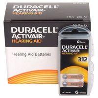 Baterie, 120 x baterie do aparatów słuchowych Duracell ActivAir 312 MF