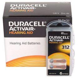 120 x baterie do aparatów słuchowych Duracell ActivAir 312 MF