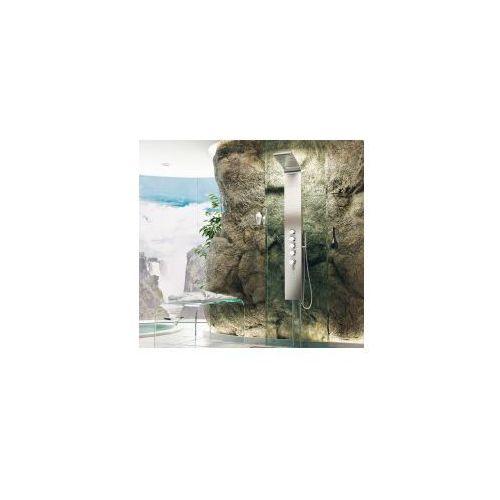 panel prysznicowy led, stal szczotkowana in-8839l marki Inea