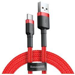 Baseus Cafule Cable wytrzymały nylonowy kabel przewód USB / USB-C QC3.0 2A 3M czerwony (CATKLF-U09) - Czerwony
