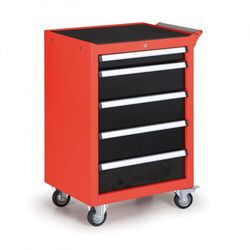 Pojemnik na narzędzia na kółkach, 5 szuflad