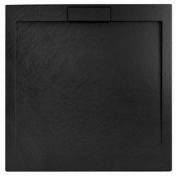 Rea Grand Black brodzik kwadratowy 90x90 cm czarny REA-K4595