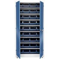Szafki warsztatowe, Szafa warsztatowa z pojemnikami, 36 pojemników, 1900x1000x400 mm