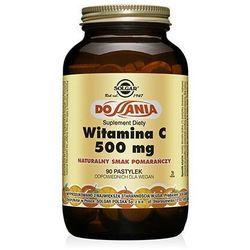 Witamina C 500mg do ssania pomarańczowa 90past