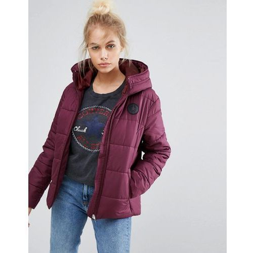 Kurtki damskie, Converse Padded Jacket In Burgundy - Purple