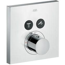 Hansgrohe bateria termostatyczna Axor ShowerSelect Square do 2 odbiorników, montaż podtynkowy, element zewnętrzny 36715000