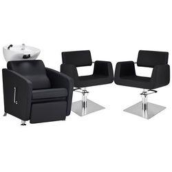 Zestaw Mebli Fryzjerskich - Myjnia Komfort Max + 2 Fotele Stein Kwadrat
