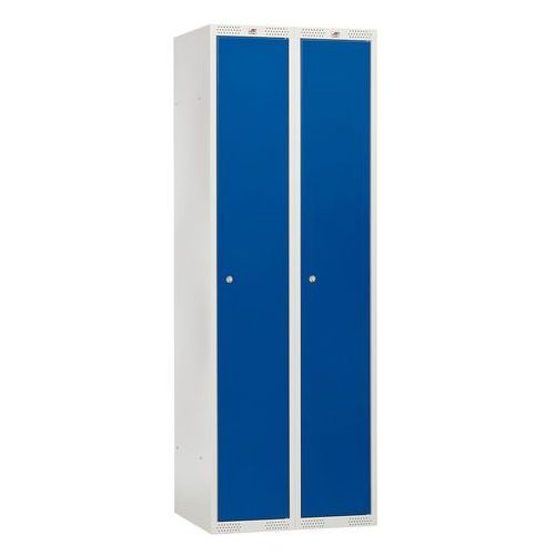 Szafki do przebieralni, Szafka do przebieralni - 2 sekcje 550x1740x600- kolor drzwi: niebieski