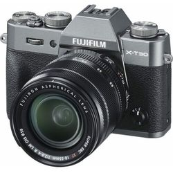 FujiFilm aparat fotograficzny X-T30+XF 18-55 mm Grey