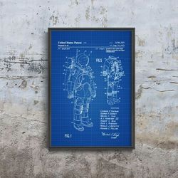 Plakat w stylu retro Plakat w stylu retro Apollo Space Suit Patent Astronaut