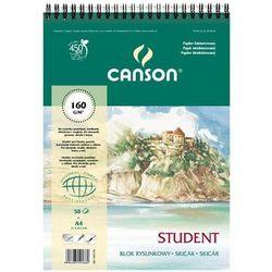 Blok rysunkowy CANSON A3 160g. 30k. fakt.spirala