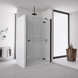 Sanswiss Annea drzwi do wnęki ze ścianką stałą uchylne 100 cm prawe czarne AN13D10000607