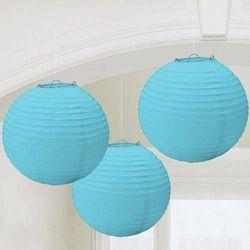 Lampiony błękitne - 25 cm - 3 szt.