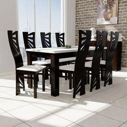 stół S-44 80/160 do 200 + 8 krzeseł Mewa