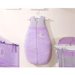 MAMO-TATO Śpiworek do 18 m-ca haftowany Słonik fioletowy