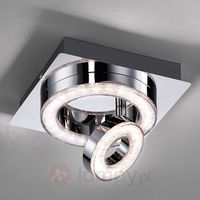 Lampy sufitowe, Leuchten Direkt TIM Lampa Sufitowa LED Chrom, 2-punktowe - Nowoczesny/Design - Obszar wewnętrzny - TIM - Czas dostawy: od 2-4 dni roboczych