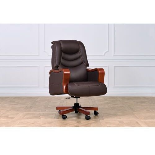 Fotele i krzesła biurowe, Fotel skórzany PRESIDENT brązowy