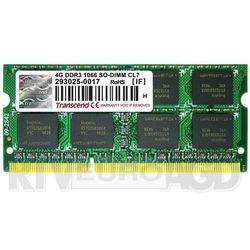 Transcend DDR3 4GB 1066 CL7 - produkt w magazynie - szybka wysyłka!