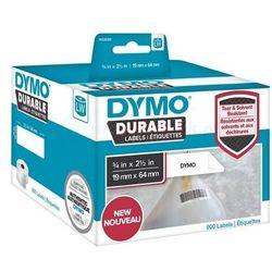 Dymo etykiety durable polipropylenowe 64mm x 19mm, białe, na kody kreskowe / EAN, 2x450 szt., 1933085