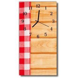 Zegar Szklany Pionowy Stół obrus kuchnia kolorowy