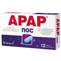 Tabletki przeciwbólowe, Apap Noc tabl.powl. 0,5g+0,025g 12 tabl. (1 blist.a 12 szt.)