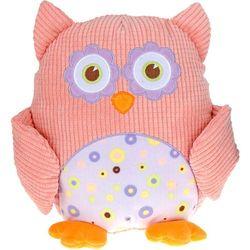 Przytulanka sowa, miękka zabawka, różowa, 28 cm