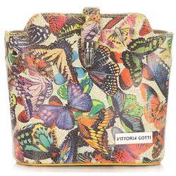 Listonoszki Skórzane Vittoria Gotti w Motyle Multikolor Żółta (kolory)