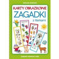 Książki dla dzieci, Karty obrazkowe. Zagadki z literkami (opr. miękka)