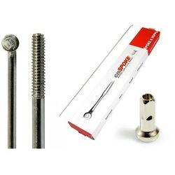 Szprychy CNSPOKE STD14 2.0-2.0-2.0 stal nierdzewna 244mm srebrne + nyple 144szt.