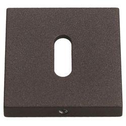 Szyld drzwiowy Gamet kwadratowy na klucz grafitowy strukturalny