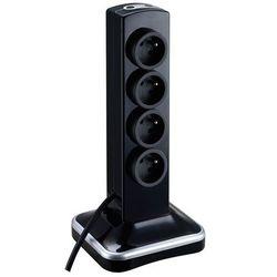 Przedłużacz Masterplug 8 x 16 A 3 x 1,5 mm2 2 x USB 2 m czarny