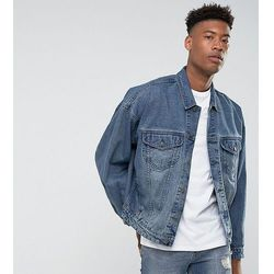ASOS TALL Oversized Denim Jacket In Mid Wash - Blue