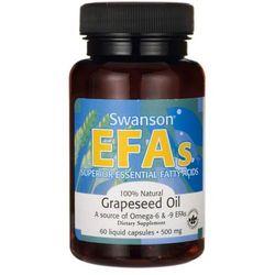 Olej z nasion winogron EFAs Grapeseed Oil 500mg 60 kapsułek Swanson