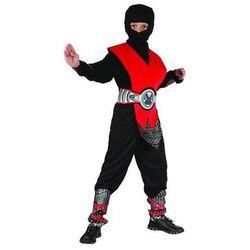 Kostium Ninja czerwony lux - L - 130/140 cm