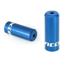Końcówki pancerza Accent aluminiowe 4 mm, przerzutkowe, 5 szt. niebieskie