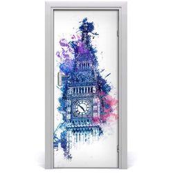 Naklejka samoprzylepna na drzwi Kolorowy Big Ben
