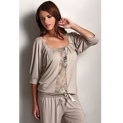 Damska bambusowa piżama SERENA Beżowy S