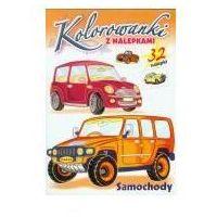 Książki dla dzieci, Kolorowanki z nalepkami. Samochody (opr. broszurowa)