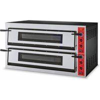 Piece i płyty grzejne gastronomiczne, Piec do pizzy 2-komorowy 18000W | 12x Ø 36cm | 400V