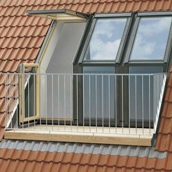 Balkon dachowy VELUX GEL 2365G MK08 78x136 element górny białe tytan cynk