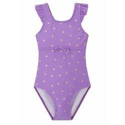Kostium kąpielowy dziewczęcy bonprix jasny lila z nadrukiem