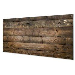 Szklany Panel Drewno deski ściana