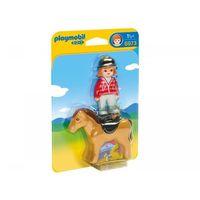 Figurki i postacie, Playmobil Jeździec z koniem 6973