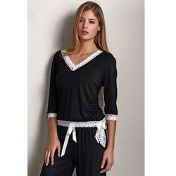 Damska bambusowa piżama ROZALIE XL Czarny