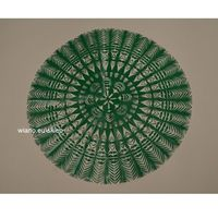 Ozdoby świąteczne, Wycinanka ludowa, kurpiowska, Gwiazda, śred. 34 cm, kolor zielona (czk-6)