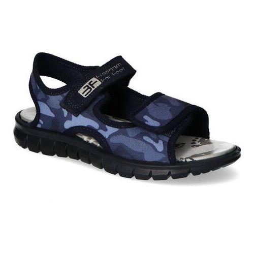 Sandałki dziecięce, Sandały dziecięce 3F Matrix Granatowe moro