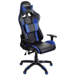 Fotel biurowy GIOSEDIO czarno-niebieski,model GSA048
