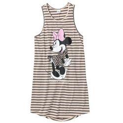 """Koszula nocna """"Minnie Mouse"""" bonprix szaro-jasnobrązowy w paski"""