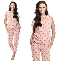 Bawełniana piżama damska LUNA 496 różowa