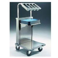 Wózki widłowe i paletowe, Wózek z ruchomą platformą do tac i nadstawą do sztućców CNB-C